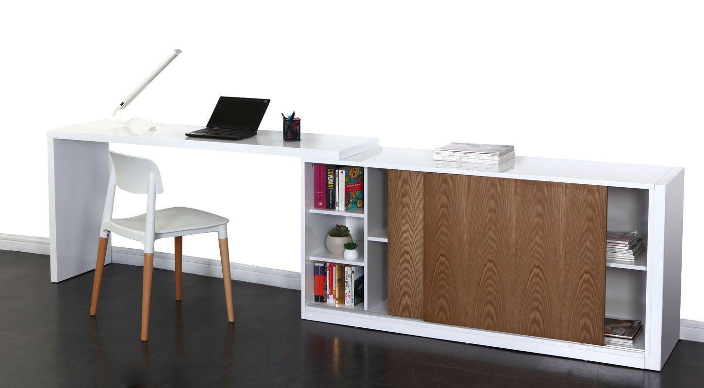 Buffet Bureau Design Modulable Couleur Frene Max Miliboo Bureau Design Bureau Meuble Design