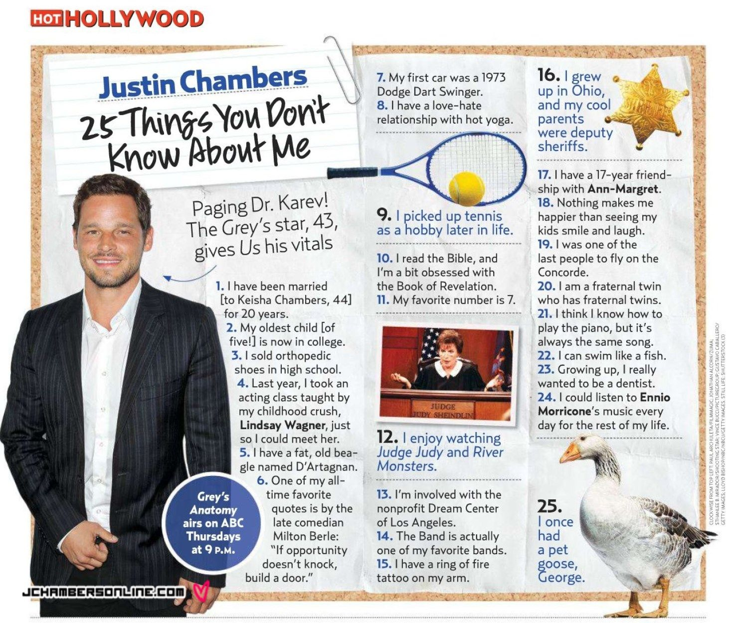 justin chambers 25 facts - Google Search   greys anatomy   Pinterest ...