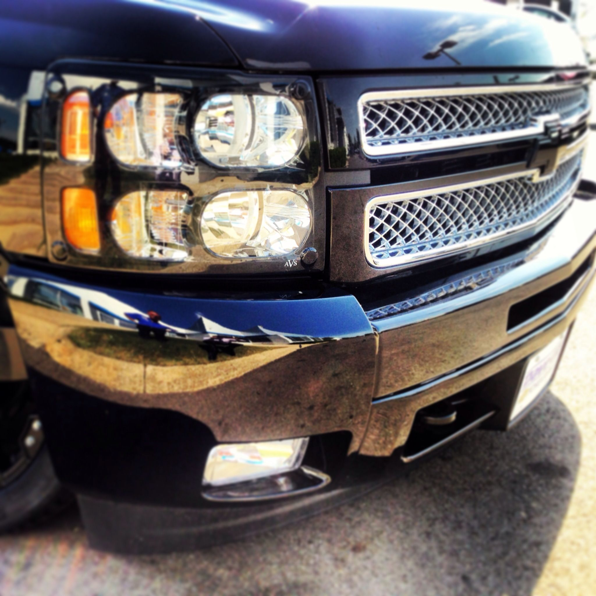 Dave Gill s Bruiser Edition Silverado lowered truck with black and