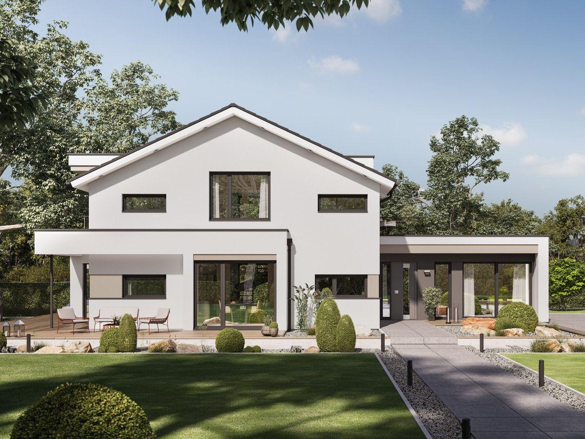 einfamilienhaus mit bro anbau haus concept m 166 bien zenker fertighaus mit satteldach - Fertighausplne