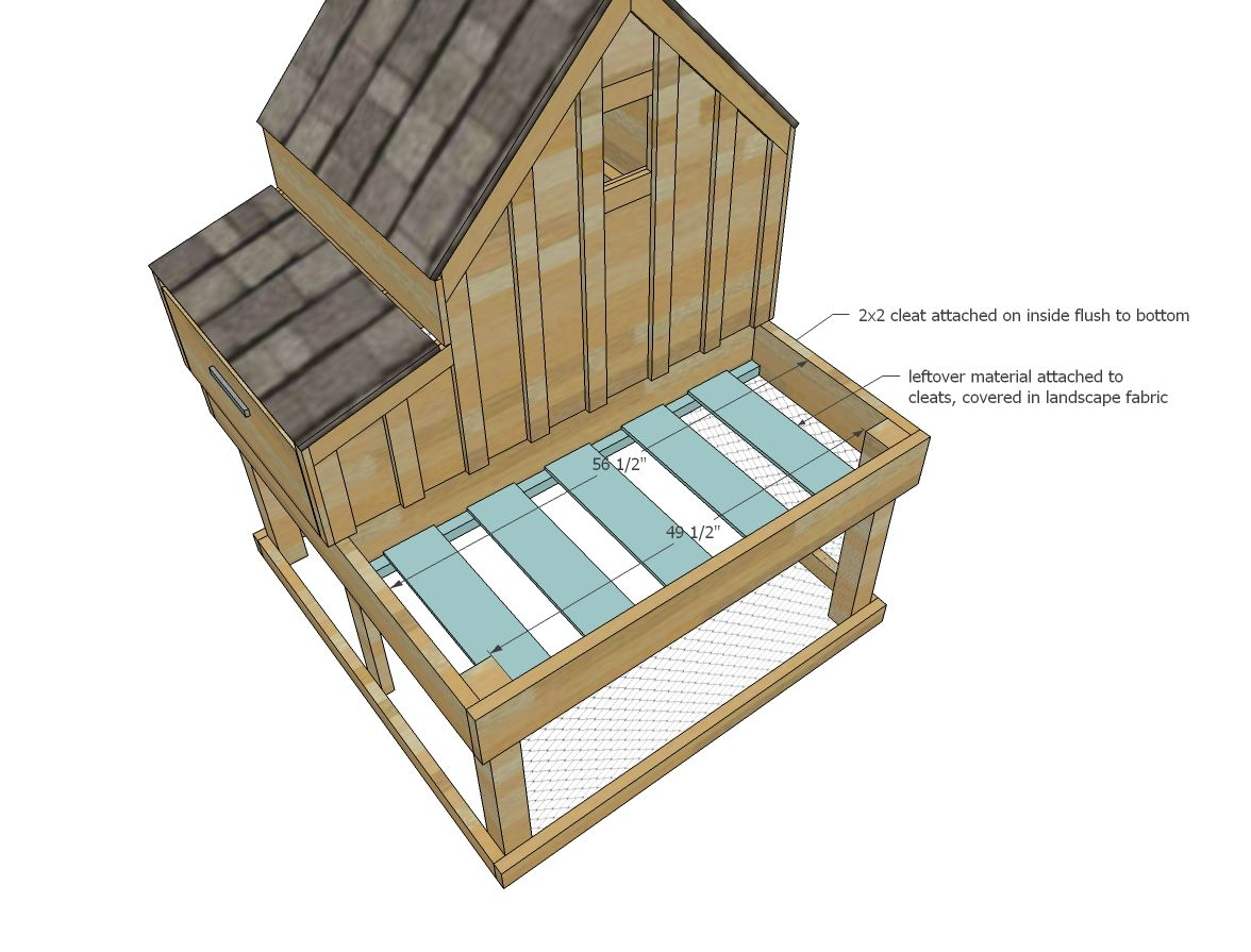 Ana White Build A Small Chicken Coop With Planter Clean Out Tray And Nesting Box Free And