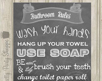 Bathroom Signs Rules bathroom rules sign | bathrooms ideas | pinterest | bathroom rules