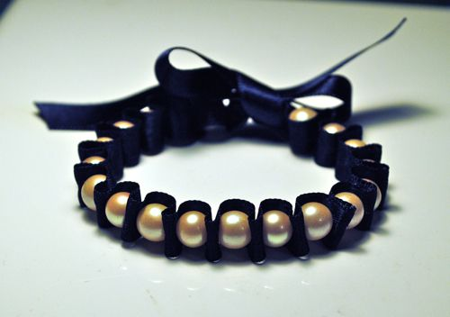 pearl bracelet craft!