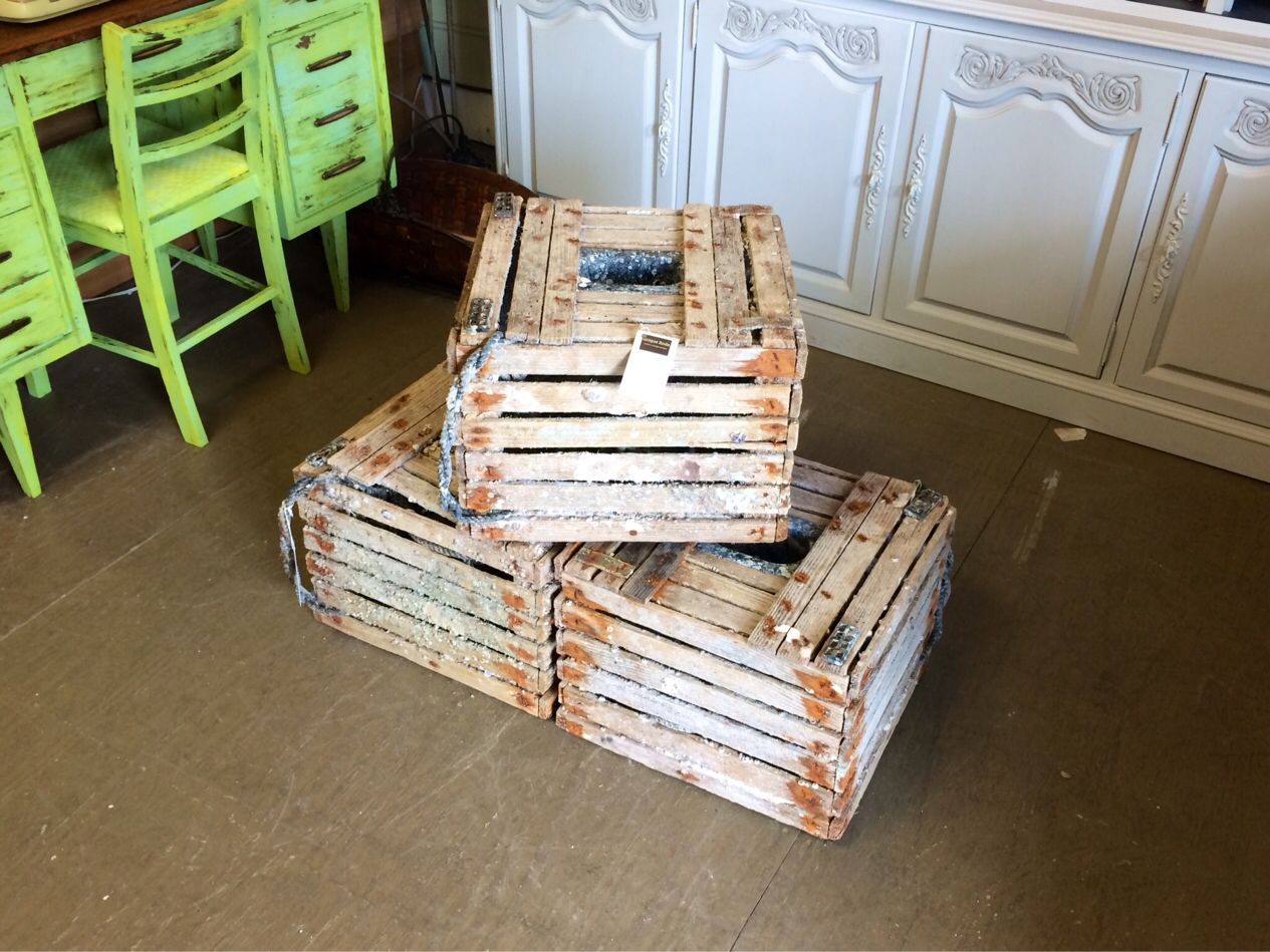 Just In At Unique Finds Wood Stone Crab Traps Used By Tarpon