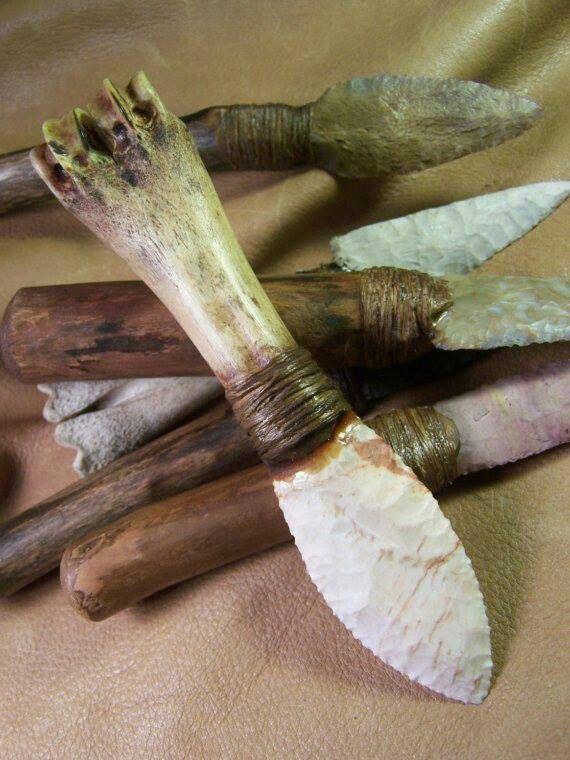 Berardo Facas Flint Knives Stone Age Flint Knapping