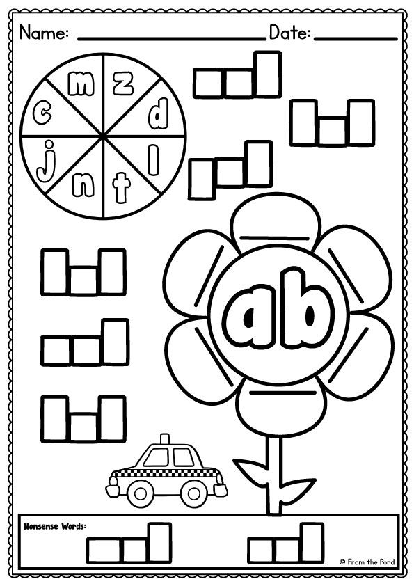 Word Family Worksheets - Spin, Read and Write | Pinterest