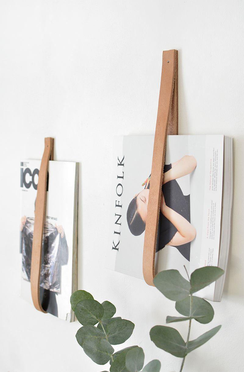 DIY - Tidningshållare i läder