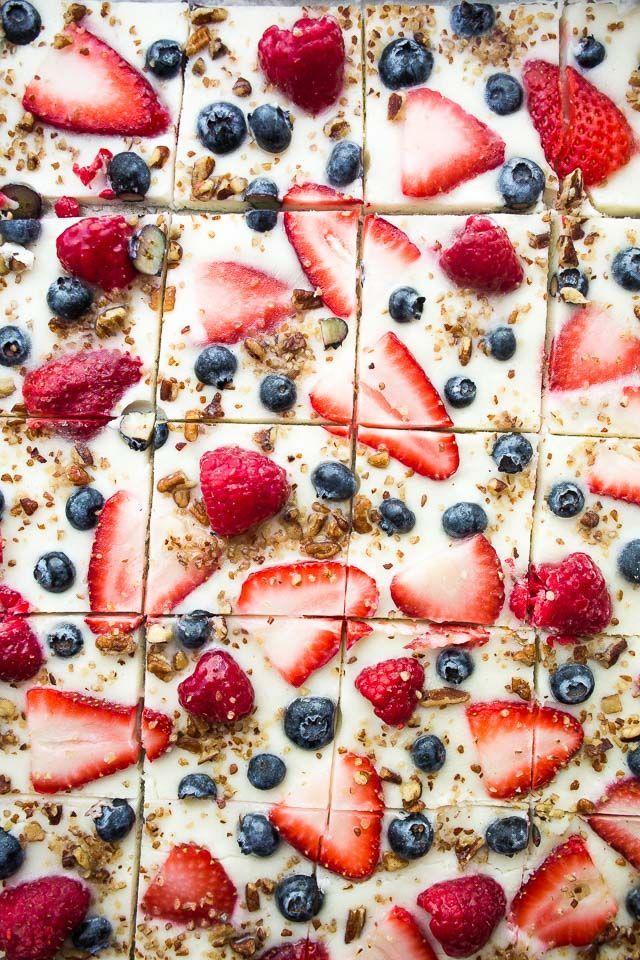 Frozen Yogurt Bark with Berries Recipe | Healthy M