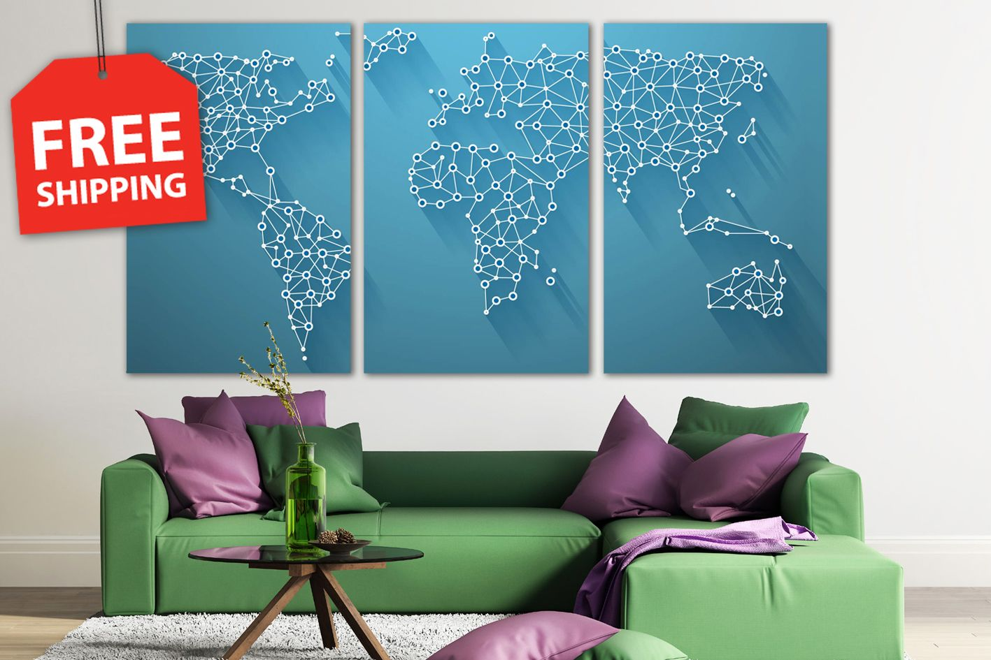 Abstract world map blue 3 d world map for room decor xxl canvas abstract world map blue 3 d world map for room decor xxl canvas gumiabroncs Choice Image
