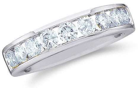 Size - 8 - 14k White Gold Round Cut Diamond Ladies Womens... - http://bit.ly/1F8m4Ao