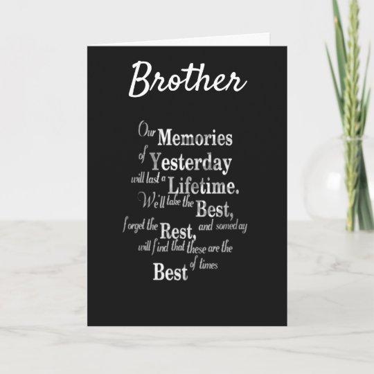 Best Brother Ever Happy Birthday Card Zazzle Com Birthday Wishes For Brother Birthday Cards For Brother Happy Birthday Brother From Sister