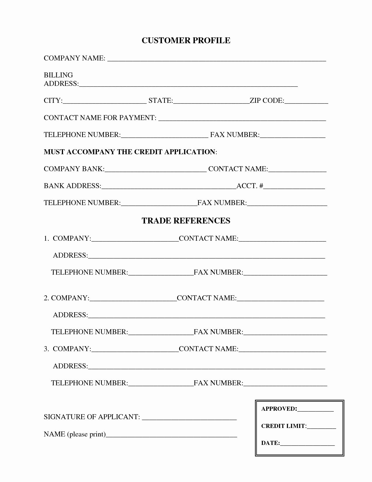 30 Credit Reference Form Template In 2020 With Images