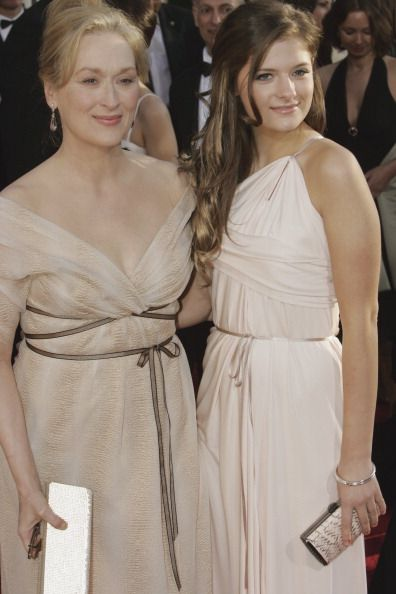 64th ANNUAL GOLDEN GLOBE AWARDS Pictured Meryl Streep and Louisa Gummer