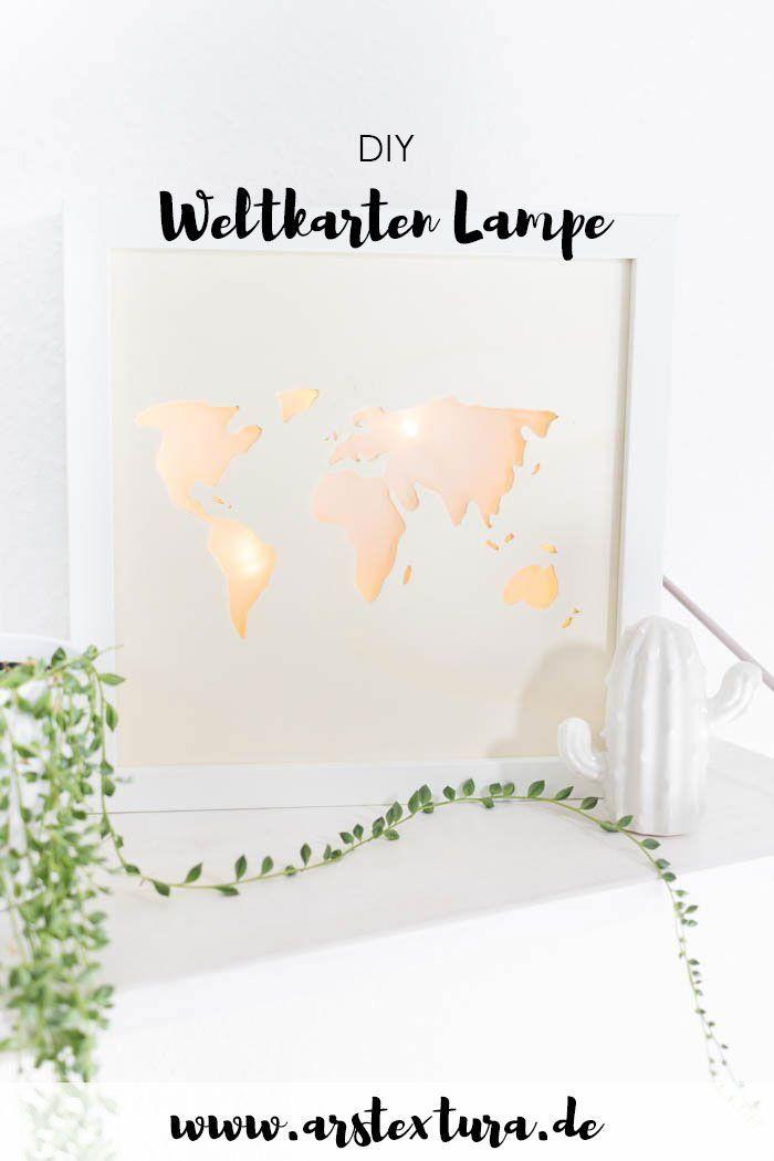 Beleuchtete Weltkarte - DIY Lightbox basteln | ars textura – DIY-Blog