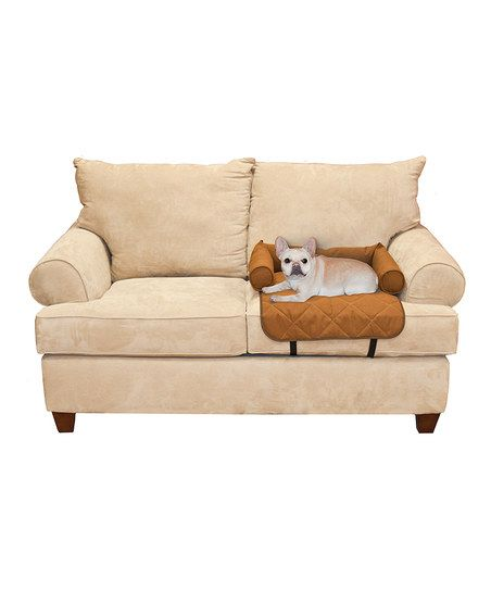 Brown Bolstered Pet Cushion Seat Cover