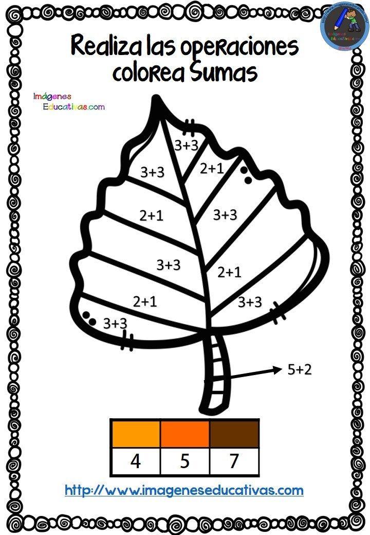 Coloreamos con sumas en otoño | Cosas de Escuela | Pinterest | La ...