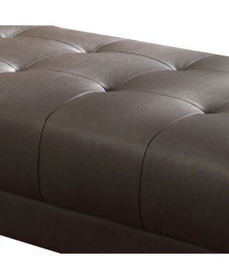 Fantastic Bonded Leather Ottoman With Chrome Legs Brown Products Theyellowbook Wood Chair Design Ideas Theyellowbookinfo