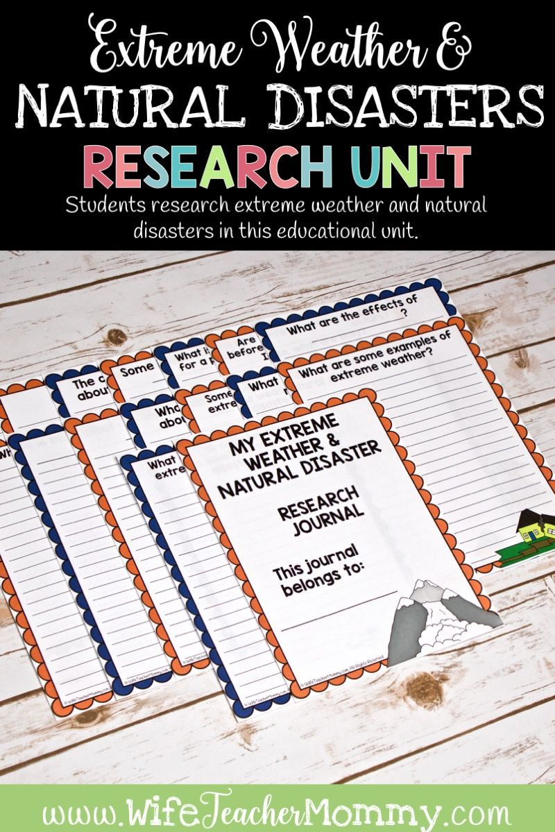 Extreme Weather And Natural Disasters Research Unit Google Printable Bundle Wife Teacher Mommy Natural Disasters Natural Disasters For Kids Natural Disasters Lessons [ 1199 x 800 Pixel ]