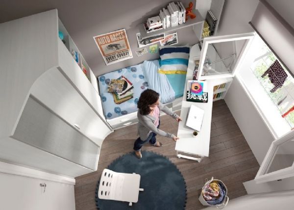 Mesa de estudio giratoria escritorios - Mesas de estudio juveniles ...