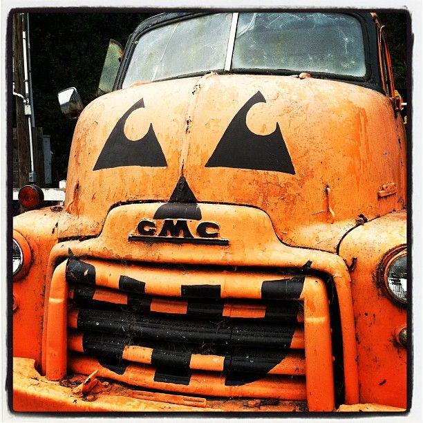 Pop-Pop's next truck...orange...but he'd never let us do the jack o'lantern paint job!