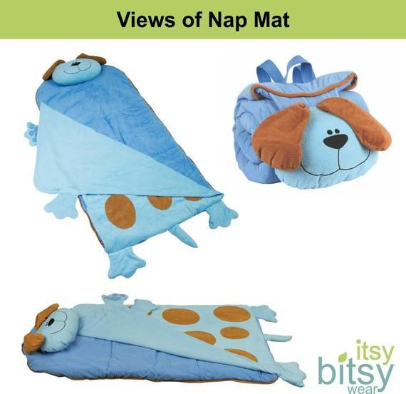 Personalized Puppy Dog Nap Mat For Preschool Or Elementary