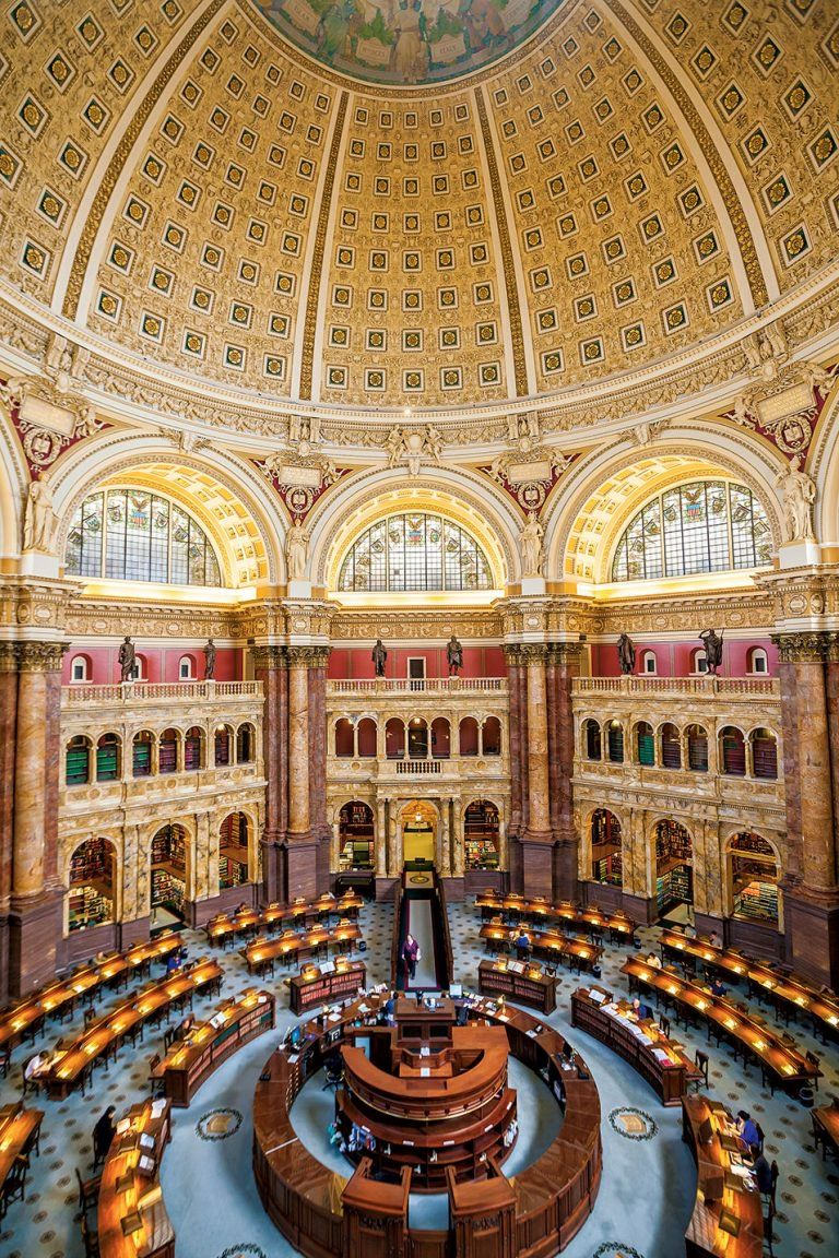 Library Of Congress Main Reading Room Washington Dc Library Of Congress Washington Dc Travel