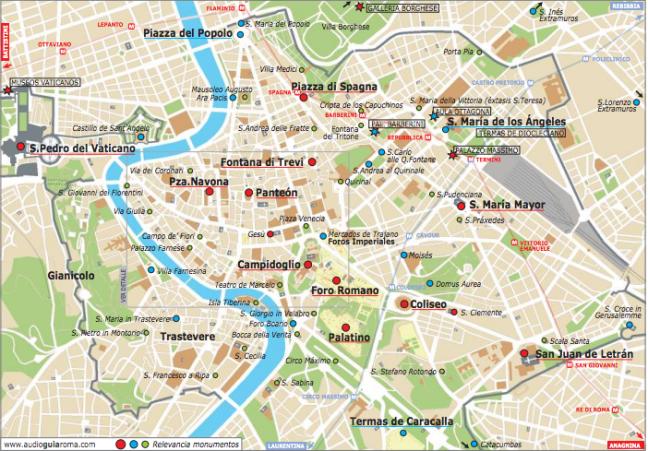 Mapa De Roma Turistico.4 Dias En Roma Italia A Viajar Mapa De Roma Viajar A