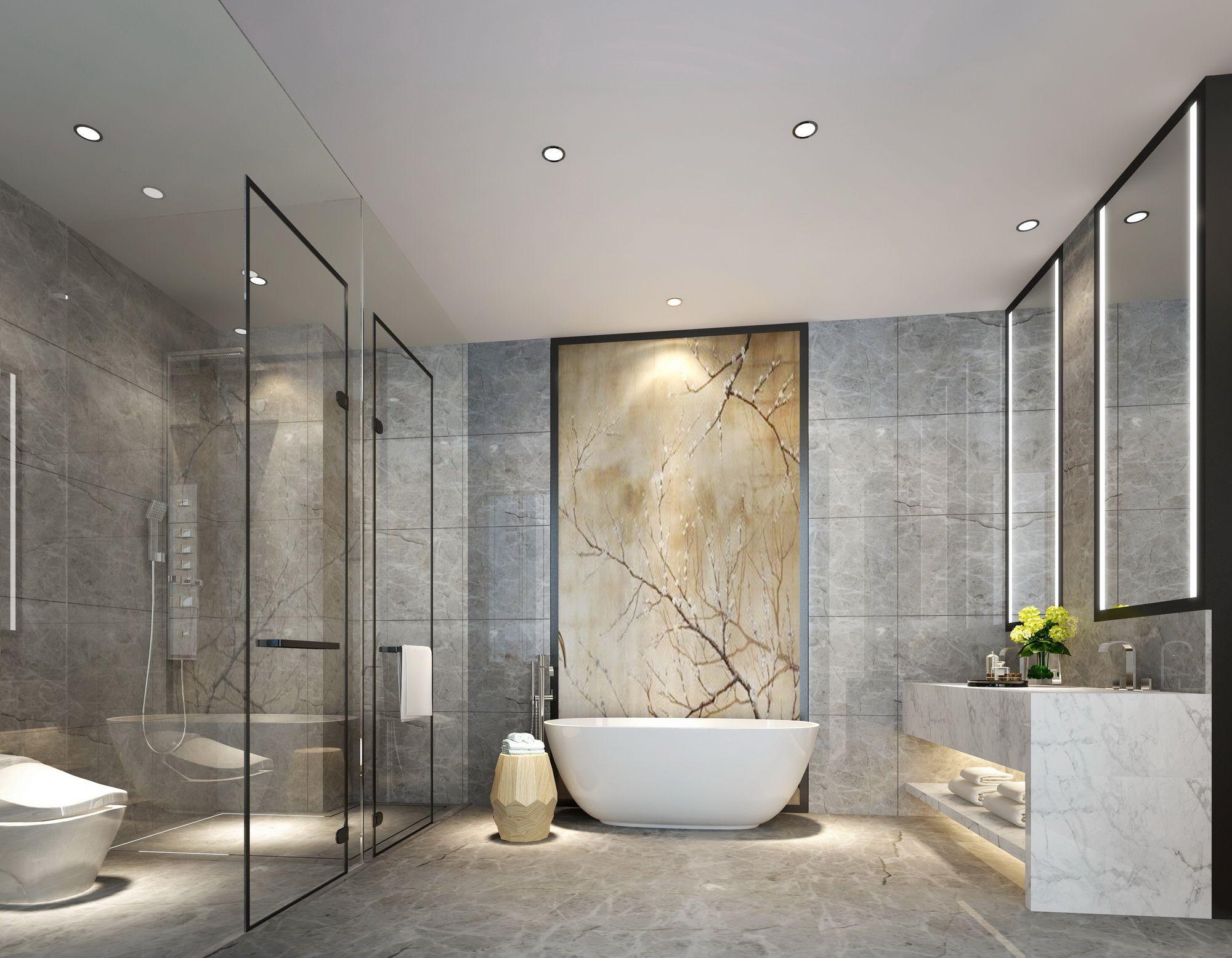 新中式卫生间toilet Bathroom Spa Bathroom Interior Design Bathroom Lighting Design