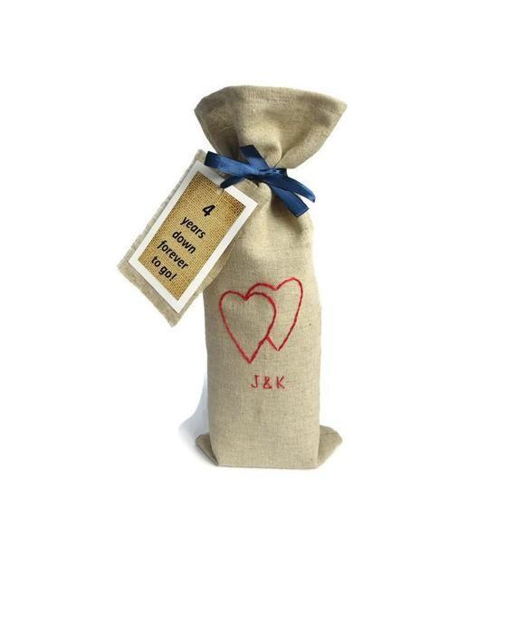 4th Year Wedding Anniversary Gift For Men Linen