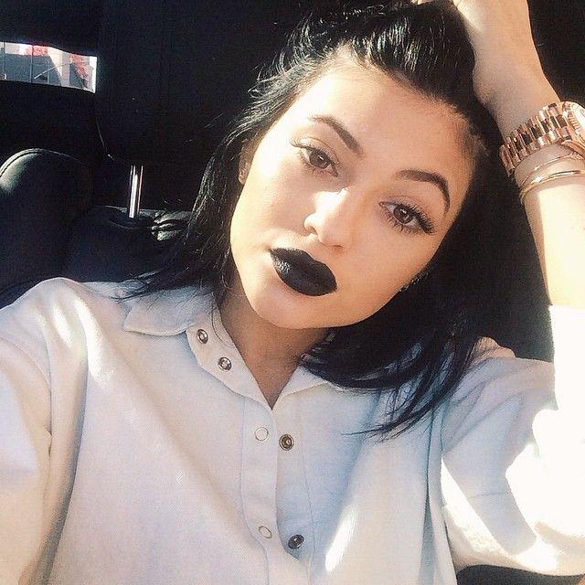 Výsledek obrázku pro black lipstick tumblr
