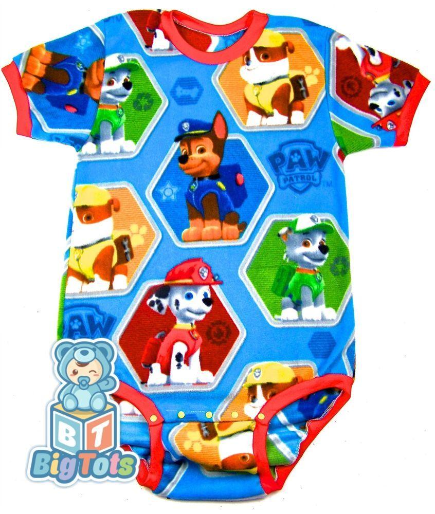 225908f13d  BIG TOTS by MsL  R blue  Paw Patrol Fleece bodysuit Adult Baby  BigTots