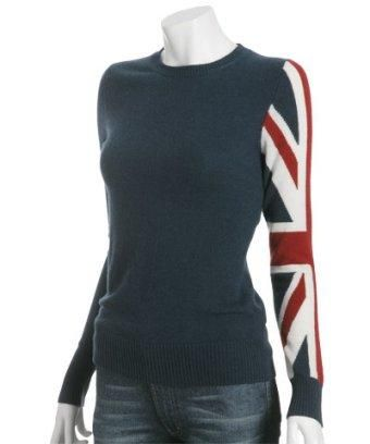 Cashmere sweater with Union Jack sleeve! | A Little Bit Of British ...