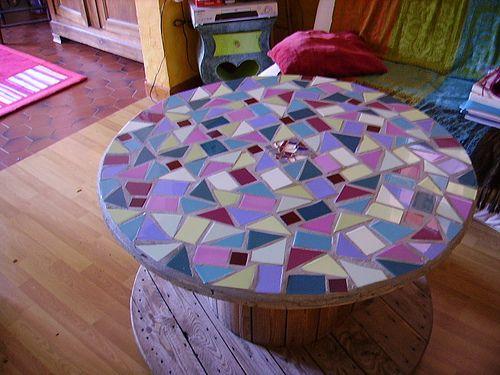 touret mosa que by carol noel cr ations via flickr jardin pinterest mosaique recyclage. Black Bedroom Furniture Sets. Home Design Ideas