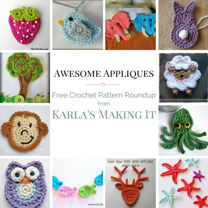 Free Crochet Applique Patterns | 12 | Pinterest | Croché, Ganchillo ...