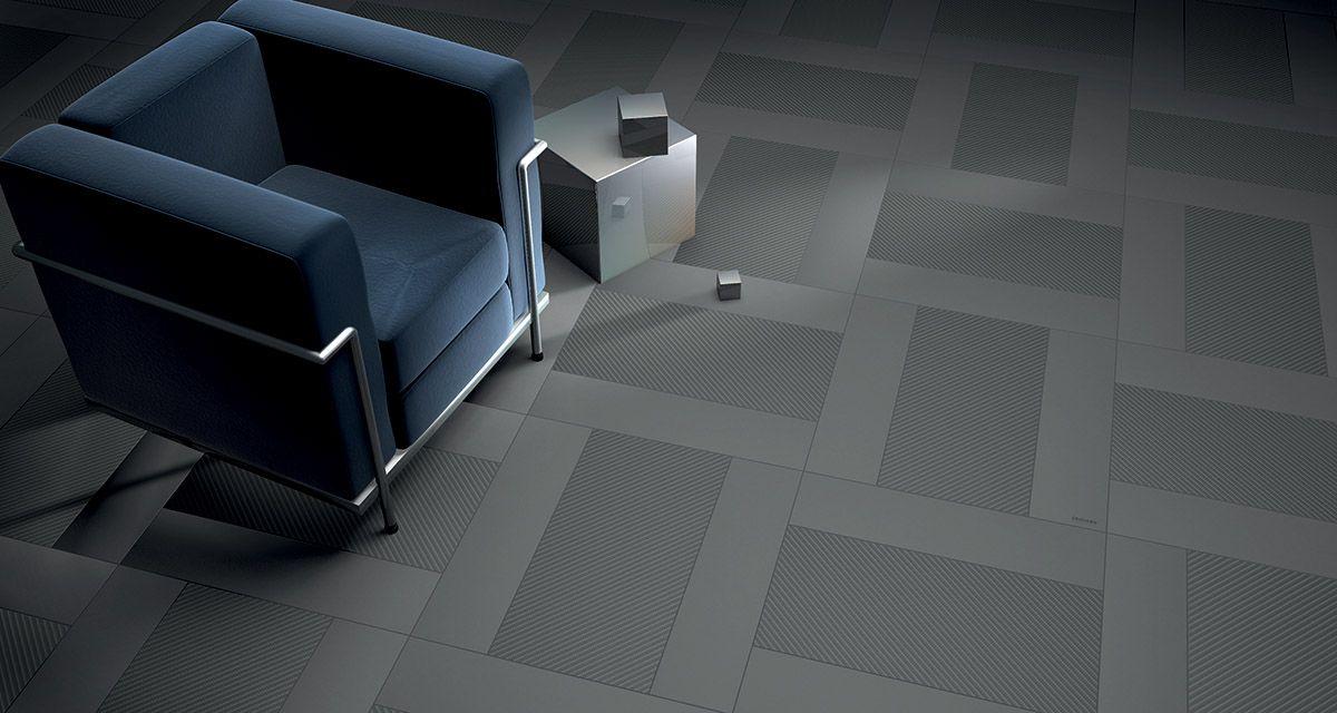 A Futuristic Wall And Floor Tile Range Inspire By Carbon Fiber Dark Grey Tile Gray Porcelain Tile Gorgeous Tile