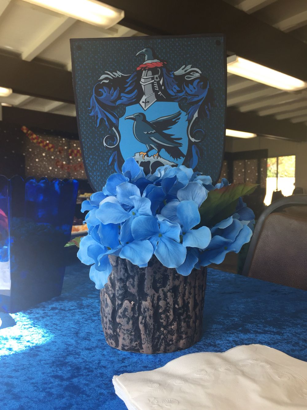 Fancy Harry Potter Wedding Centerpieces Vignette Blue Wedding
