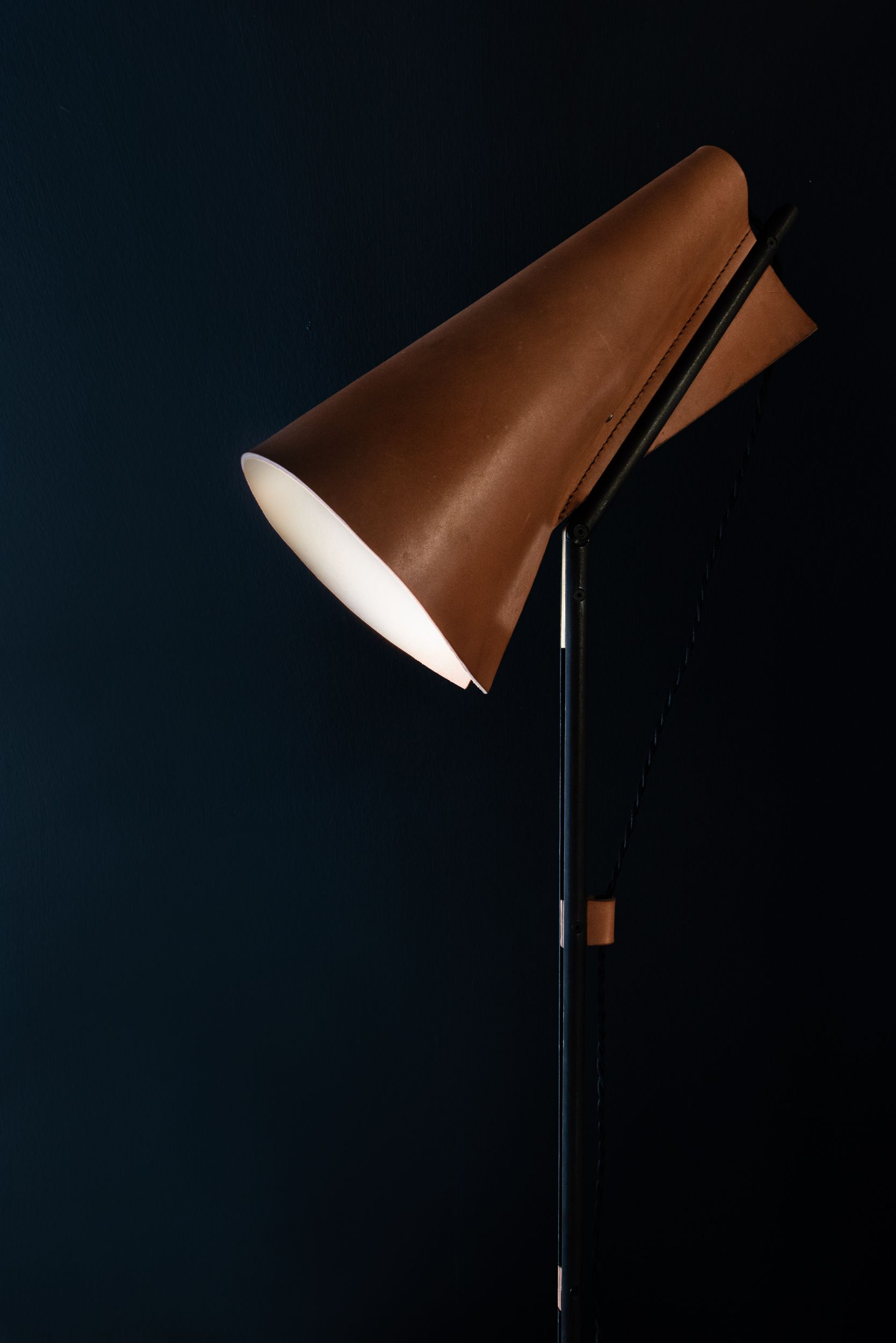 These Leather Lamps Give A Warm Glow To Any Room Stand Lamp Is