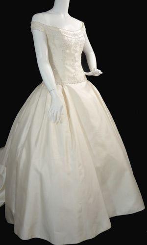 Christos New York beaded rhinestones wedding gown | Fashion ...