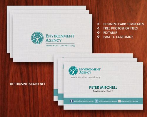 Free Eco-Friendly Business Card Template Ver2 Places to Visit - name card format