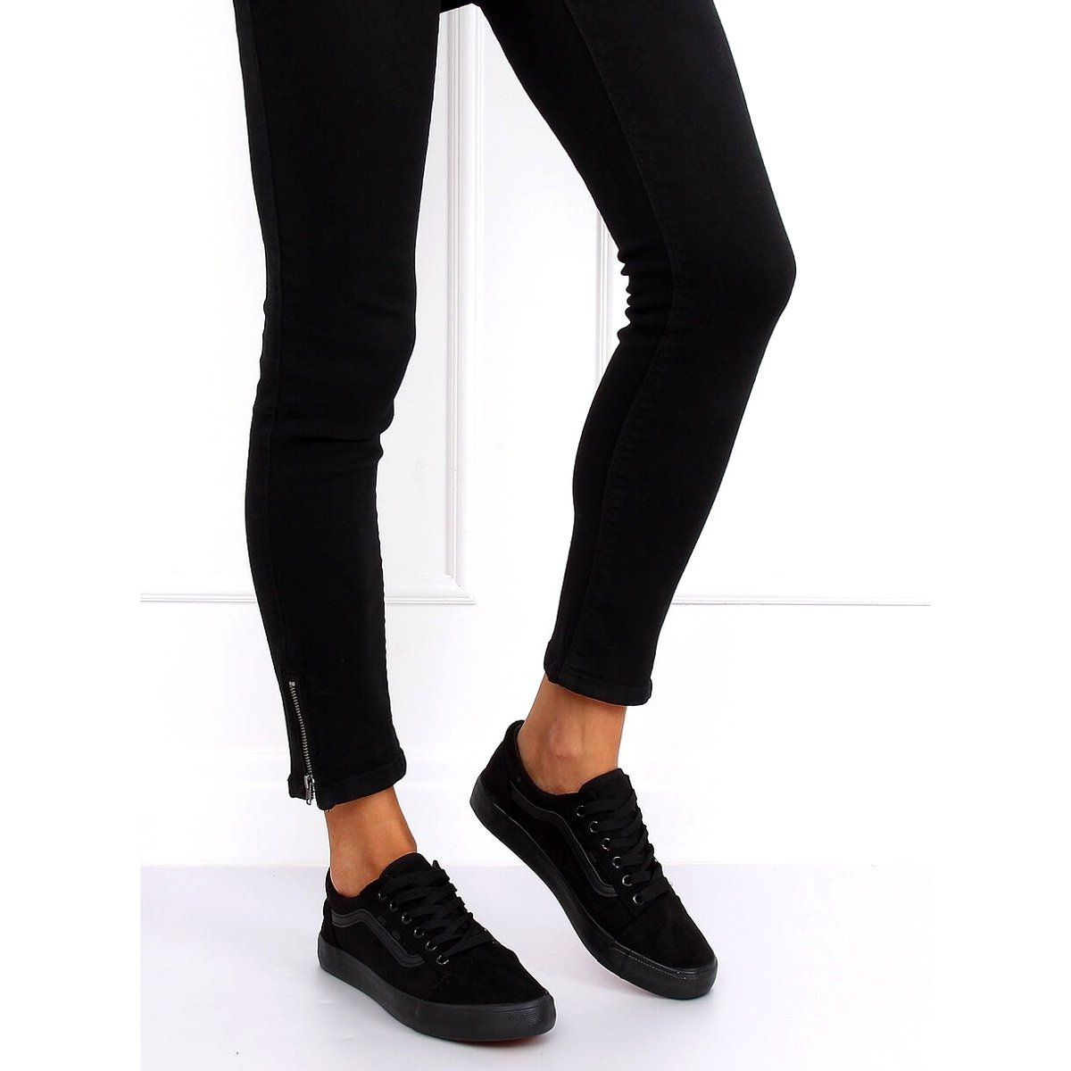 Trampki Damskie Czarne B70a Black Black Trainers Women Womens Sneakers Black Womens