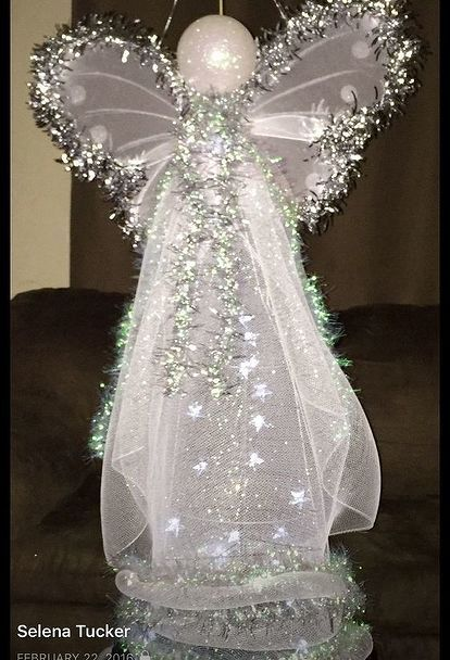 5 Elegant Angel With Dove Lighted Outdoor Christmas Decor Yard