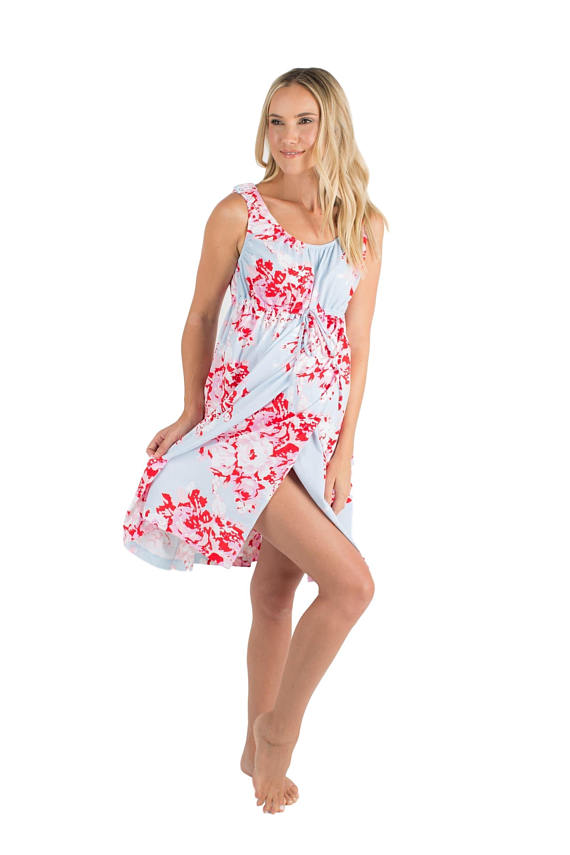 3 in 1 Mae Floral Maternity Labor Delivery Nursing Gown By Baby Be ...