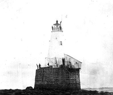First Whaleback Lighthouse that commenced operation in ... First Photograph 1830