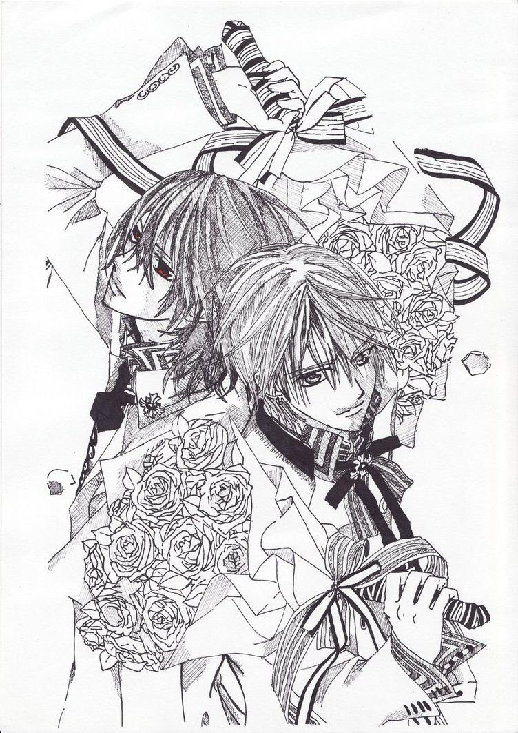Vampire Knight Coloring Page Anime Coloring Pages Coloring Pages