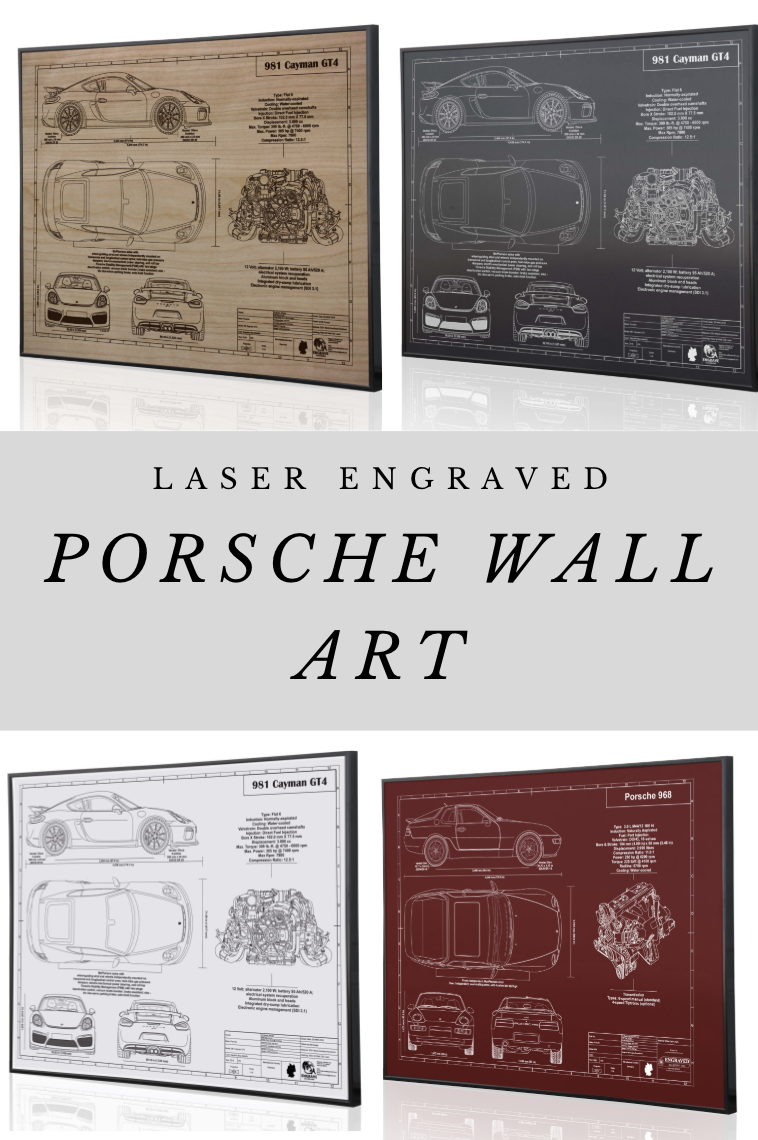 Laser Engraved Porsche Wall Art Porsche Gifts For The Car Enthusiast Car Wall Art Laser Engraved Metal Art Christmas Gifts