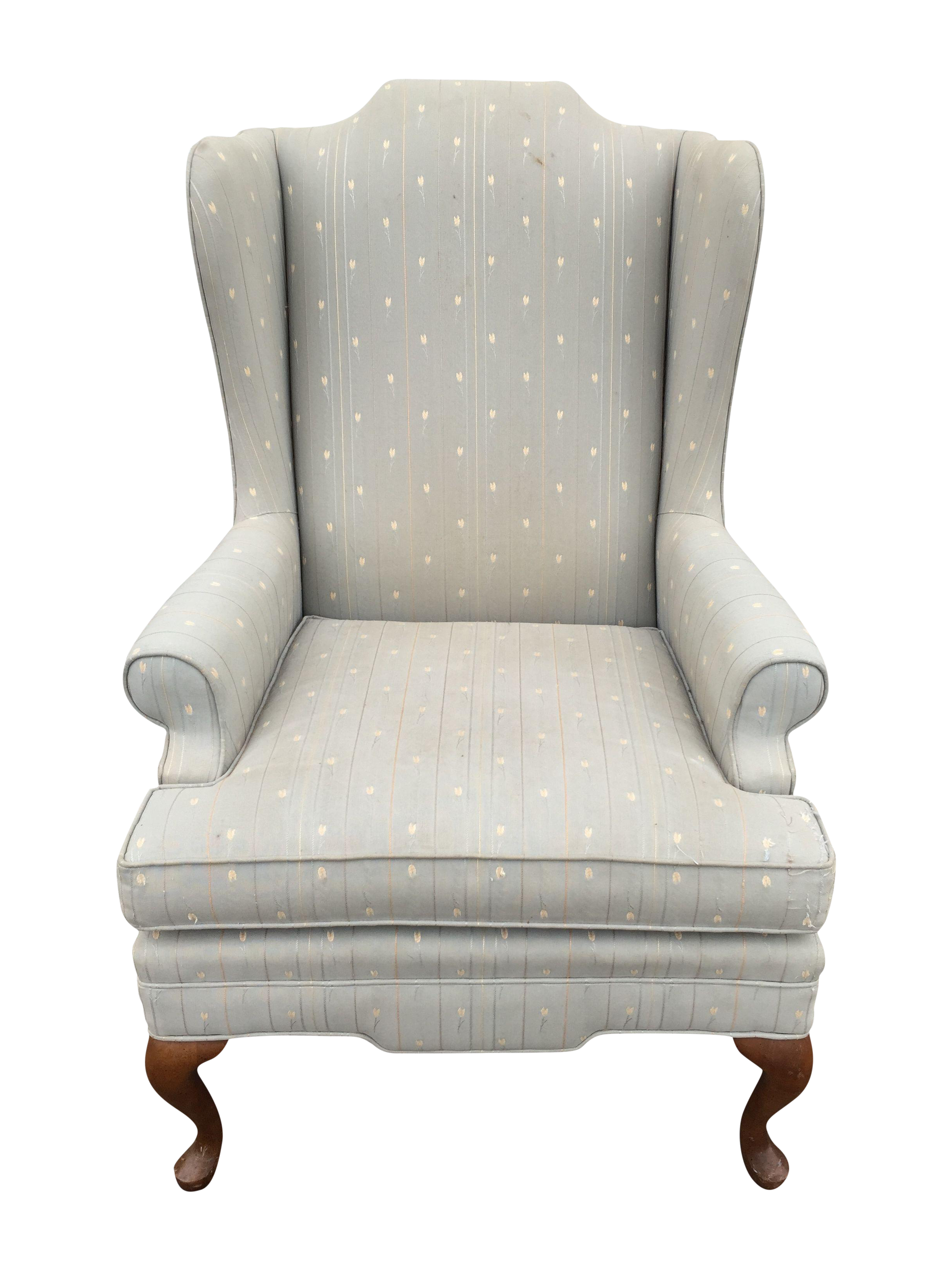Antike Sofas Contemporary Vintage Upholstered Grey Wingback Armchair Vintage And Antique