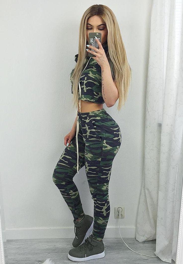 Comfy Camo Comfy set by  fashionnova Fashion Look by Amanda Khamkaew Swag  Girl Outfits ccdaf486ce5