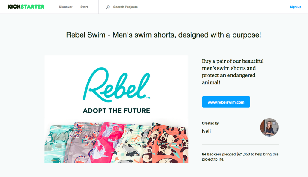 Rebel Swim on Kickstarter! Premium men's swim shorts designed with passion and a purpose! www.rebelswim.com