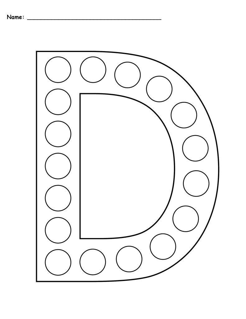 free letter d do a dot printables uppercase lowercase prek letter d worksheet lettering. Black Bedroom Furniture Sets. Home Design Ideas