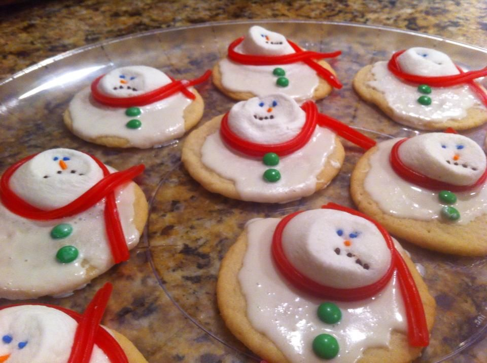 Melted Snowman Cookies Pre Made Sugar Cookies Or Pillsbury Sugar